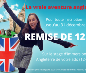 Promo stage immersion angleterre
