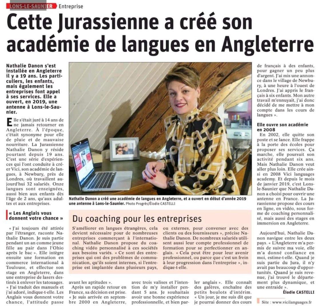 Article presse Vici Languages France
